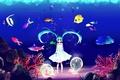 Картинка рыбки, рыбы, пузырьки, арт, девочка, кавай, vocaloid