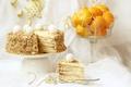 Картинка торт, мандарины, наполеон