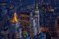 Картинка огни, вечер, США, Нью - Йорк