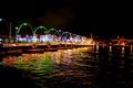 Картинка огни, Willemstad, Нидерланды, мост, ночь, река, Curacao
