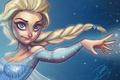 Картинка платье, коса, девушка, frozen, волосы, snow queen, disney