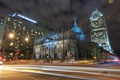 Картинка ночь, огни, дома, Канада, собор, Монреаль