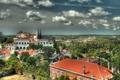 Картинка небо, облака, город, фото, HDR, сверху, Португалия