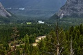 Картинка лес, деревья, горы, река, долина, Канада, Альберта