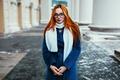 Картинка Волосы, Пальто, Рыжие, Модель, Синее, Ivan Proskurin, Даша