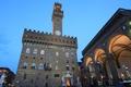 Картинка небо, огни, вечер, Италия, Флоренция, скульптуры, Давид