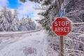 Картинка дорога, снег, деревья, природа, road, trees, winter