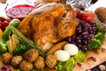 Картинка индейка, овощи, виноград, яйца