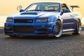 Картинка Blue, BBS, Mugen, Skyline GTR