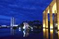 Картинка ночь, огни, площадь, Бразилия