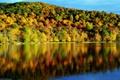 Картинка осень, вода, деревья, отражение, красота, время года, пейзаж. природа