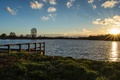 Картинка Небо, озеро, солнце