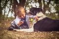 Картинка настроение, собака, мальчик