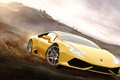 Картинка Lamborghini, One, 360, Yellow, Xbox, Game, Desert