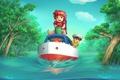 Картинка вода, деревья, корабль, наводнение, Хаяо Миядзаки, Ponyo on the Cliff by the Sea, рыбка поньо ...