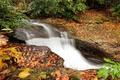 Картинка stream, waterfall, leaves, autumn, water, поток, водопад